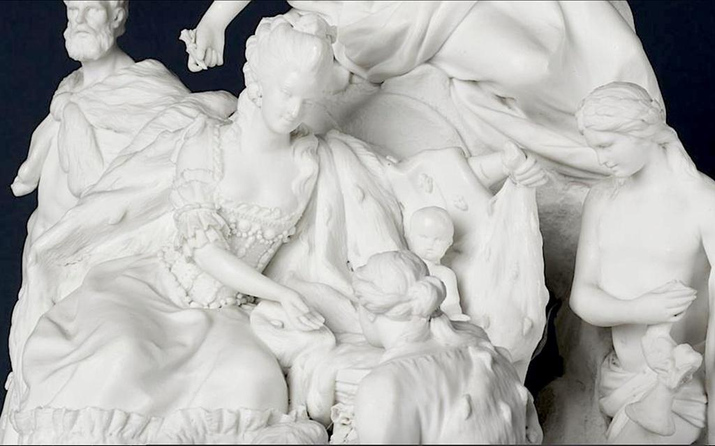 Marie-Antoinette : sujets allégoriques en porcelaine de la Courtine, Manufacture de Locré (Jean-Baptiste) Capt1456