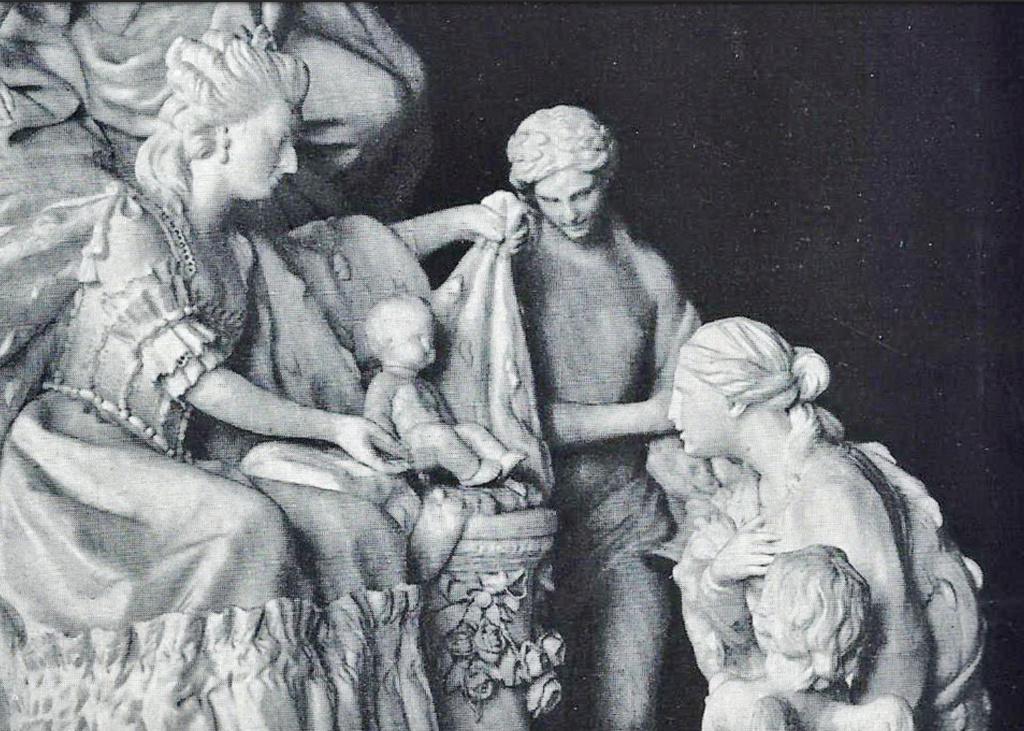 Marie-Antoinette : sujets allégoriques en porcelaine de la Courtine, Manufacture de Locré (Jean-Baptiste) Capt1458