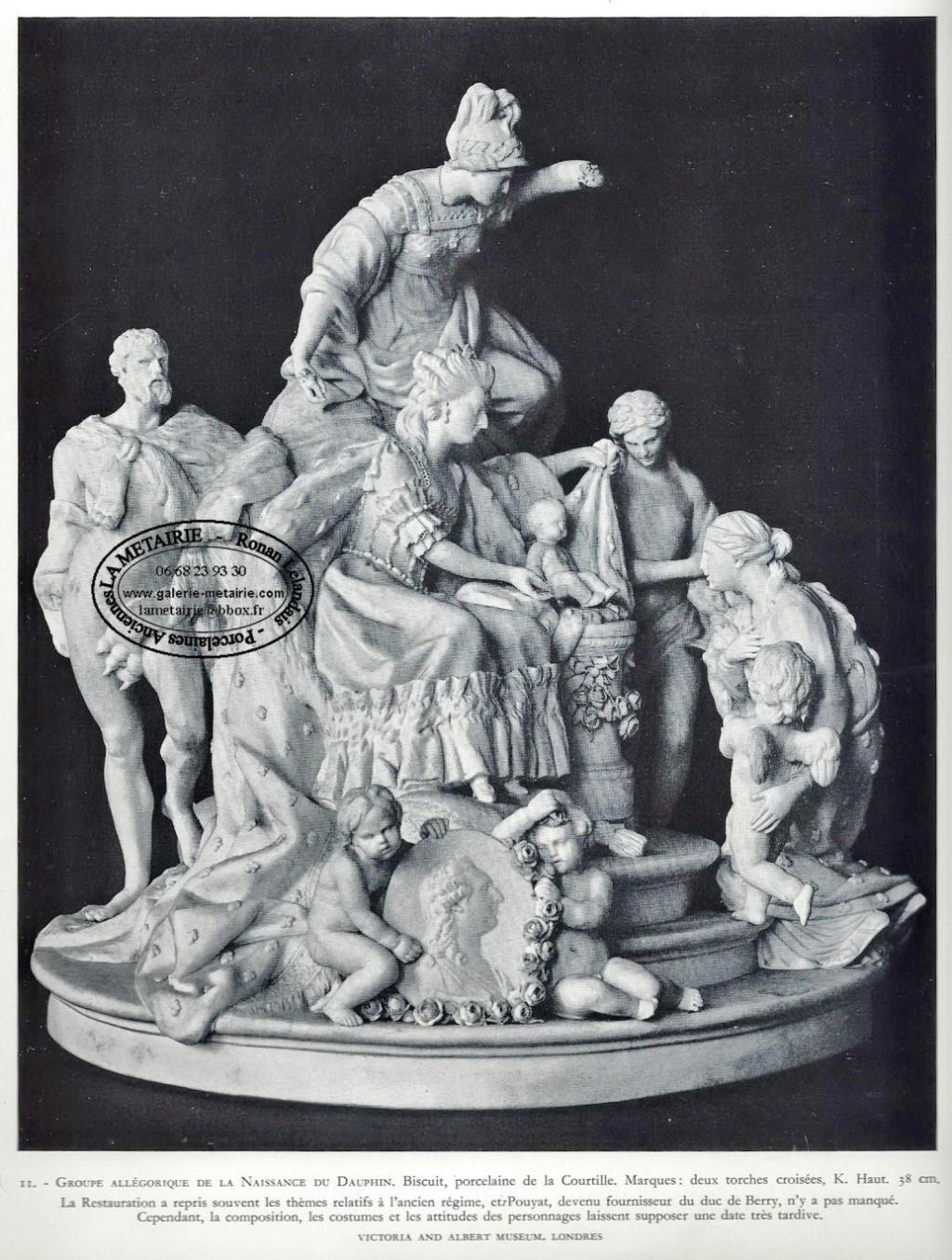 Marie-Antoinette : sujets allégoriques en porcelaine de la Courtine, Manufacture de Locré (Jean-Baptiste) Capt1459