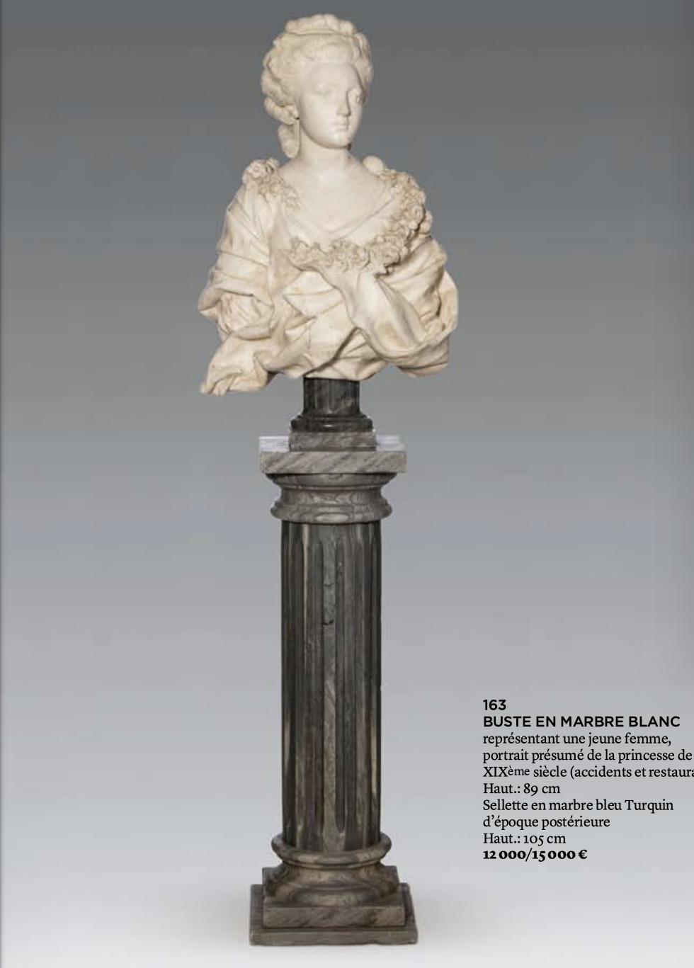 Sculpture : Les bustes de la princesse de Lamballe (présumée) Capt1469
