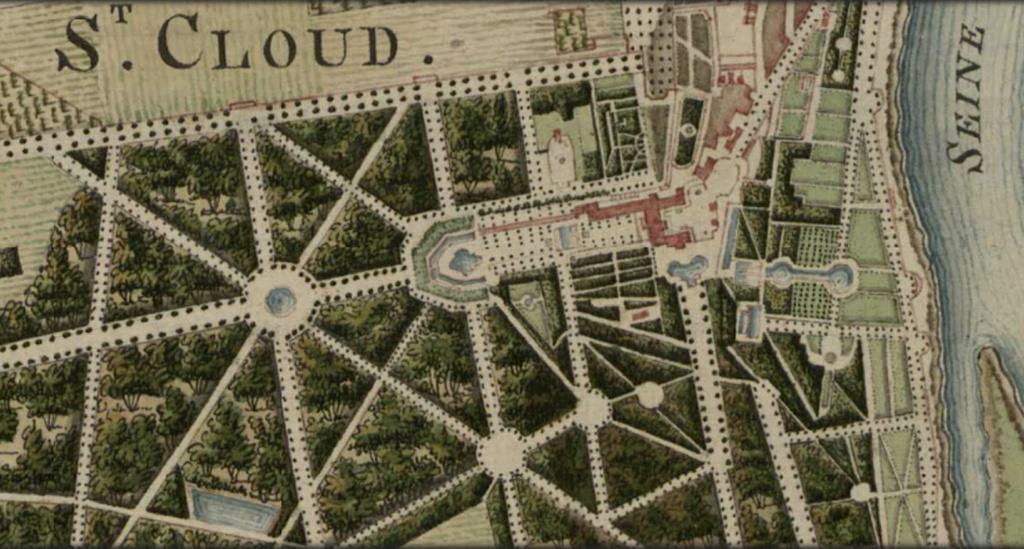 Les cèdres de Marie-Antoinette, jardin du Trocadéro, parc de Saint-Cloud Capt1475