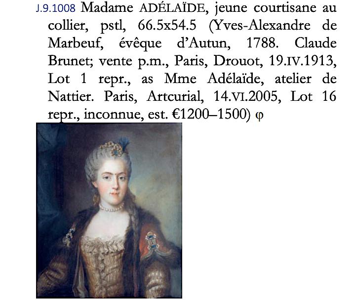 Sophie de France, dite Madame Sophie, tante de Louis XVI Capt1505