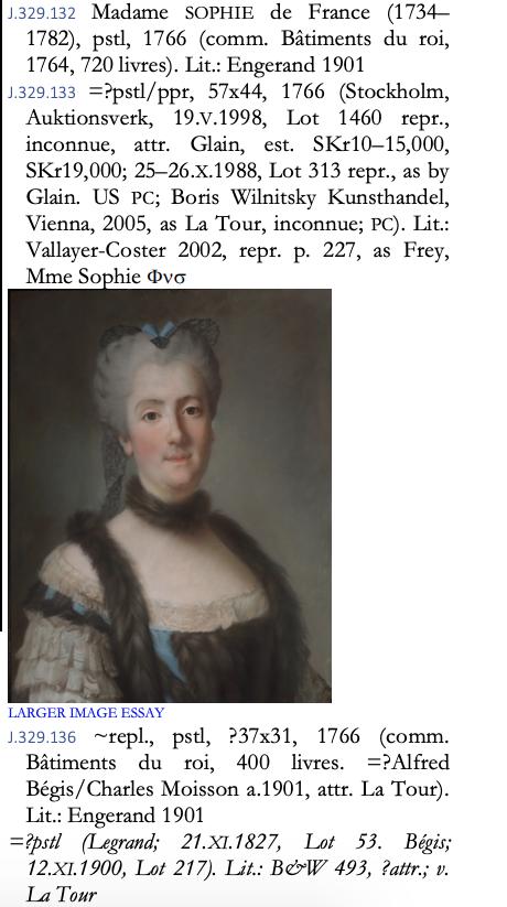 Sophie de France, dite Madame Sophie, tante de Louis XVI Capt1506