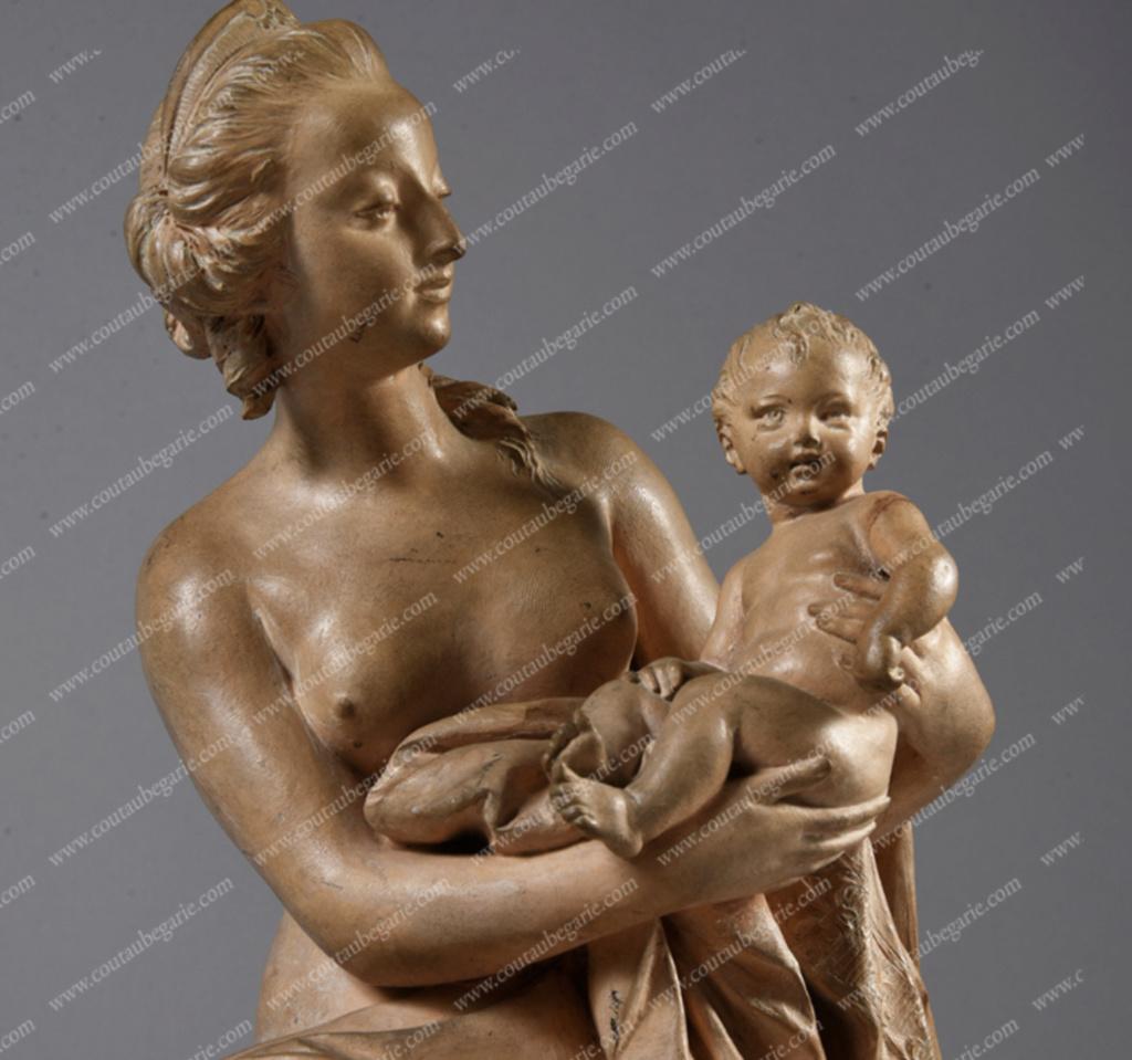 Marie-Antoinette, allégorie de la naissance du dauphin, par et d'après Augustin Pajou Capt1550