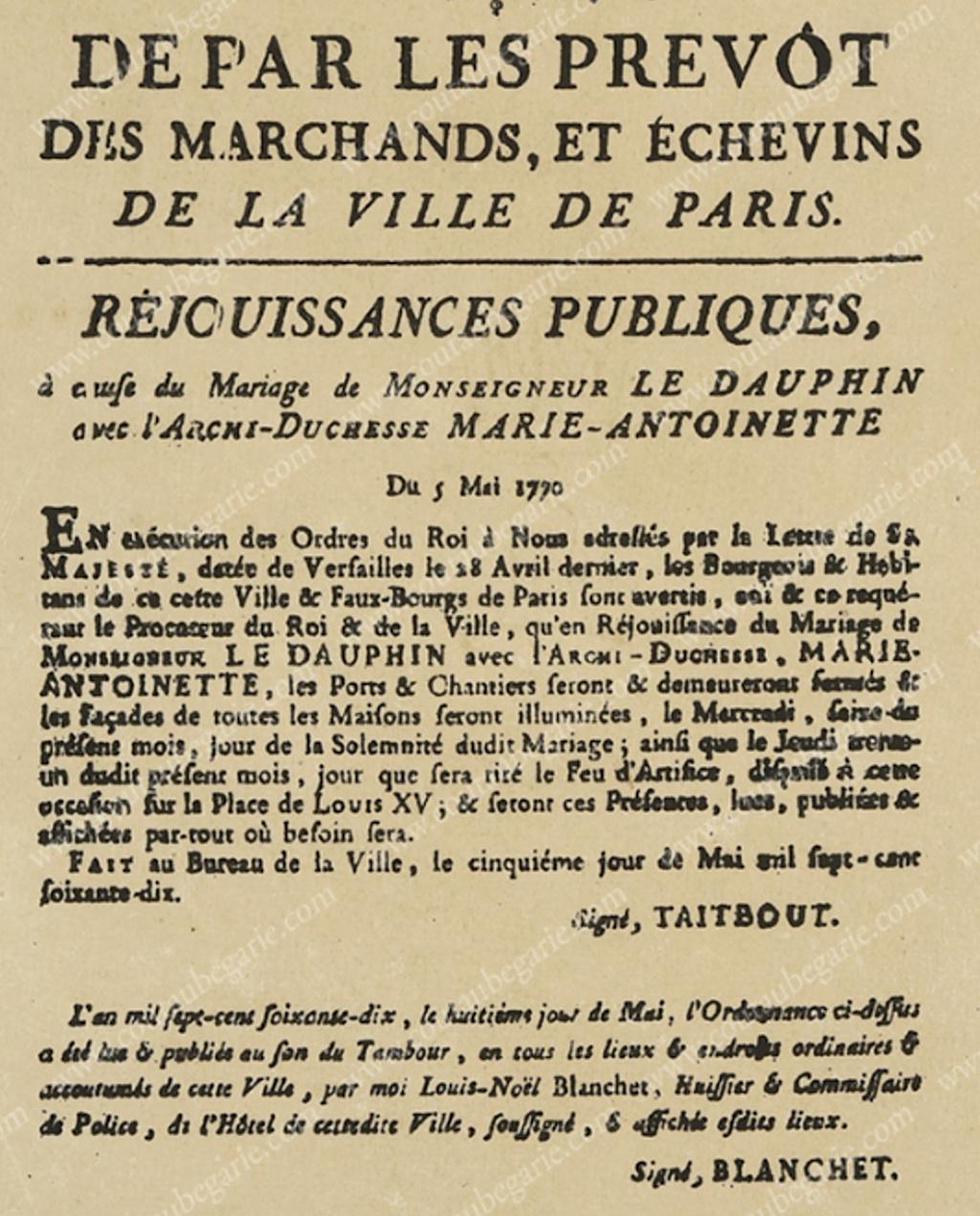 Le mariage de Louis XVI et Marie-Antoinette  - Page 11 Capt1552
