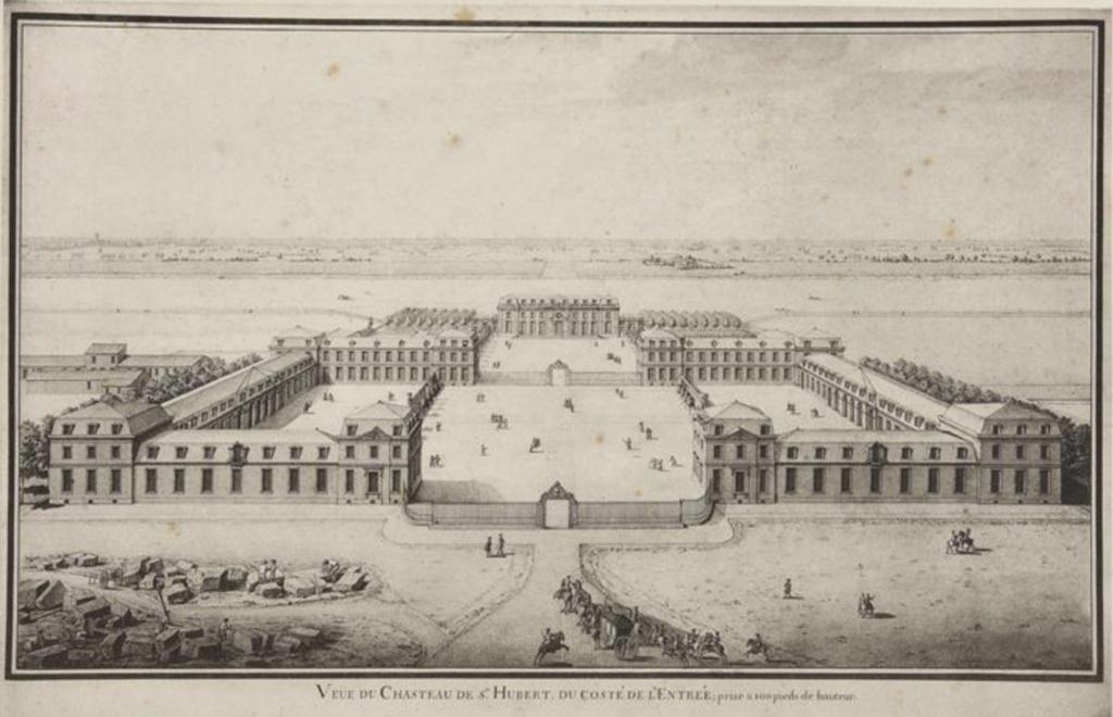 Saint-Hubert, château royal délaissé par Louis XVI Capt1638