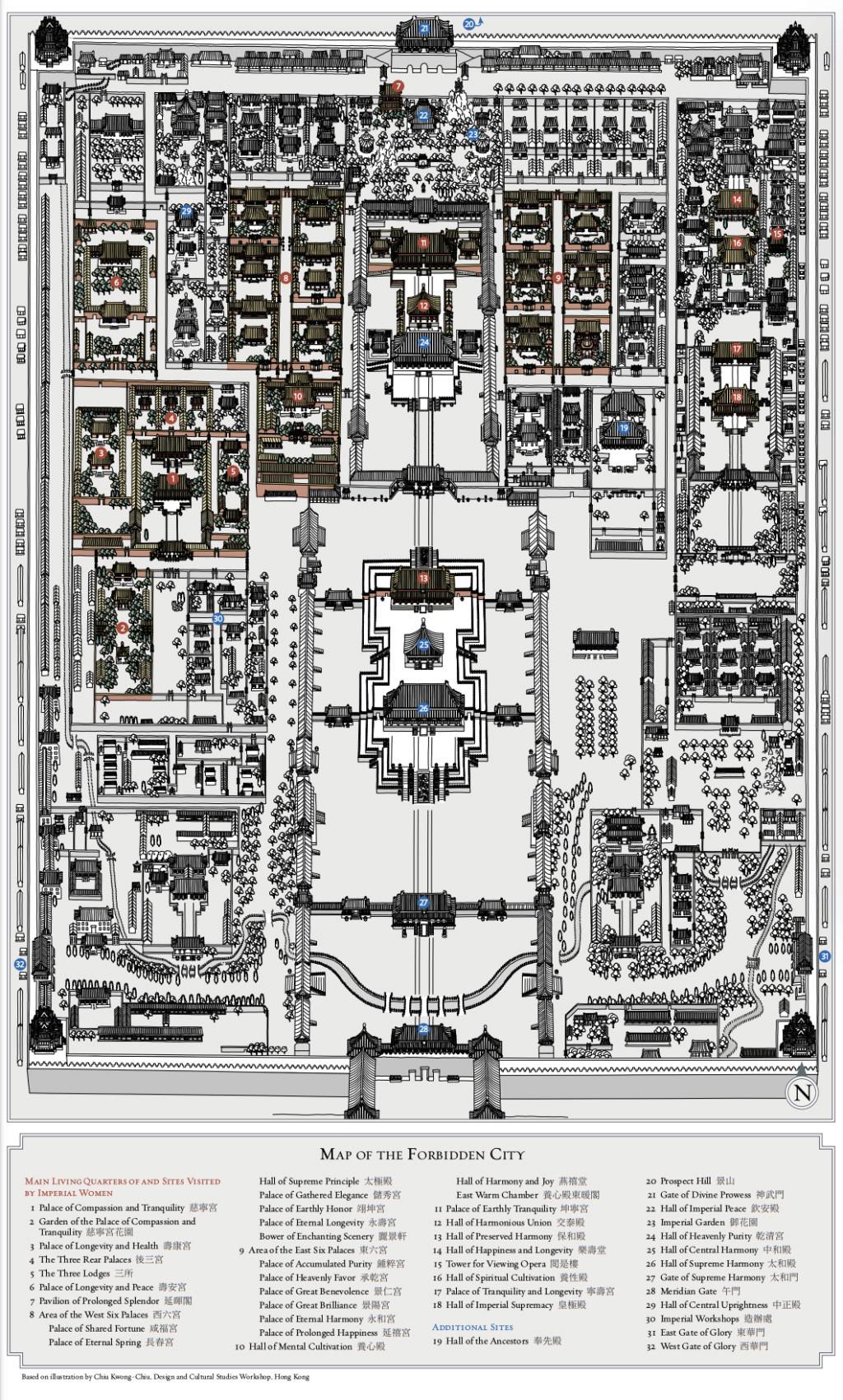 Impératrices, épouses et concubines de l'empereur de Chine (dynastie Qing) dans la Cité Interdite Capt1788