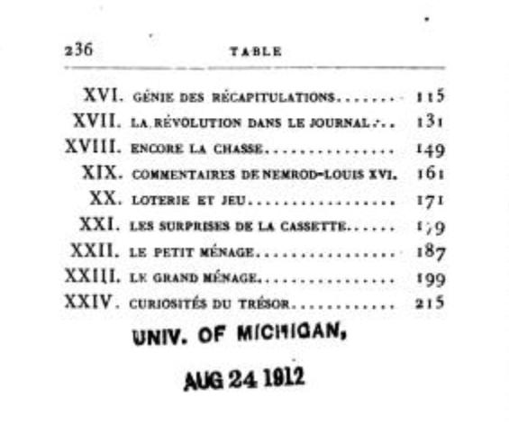 Le Journal du roi Louis XVI et ses Reflexions sur ses entretiens avec Mr le Duc de la Vauguyon Capt1944