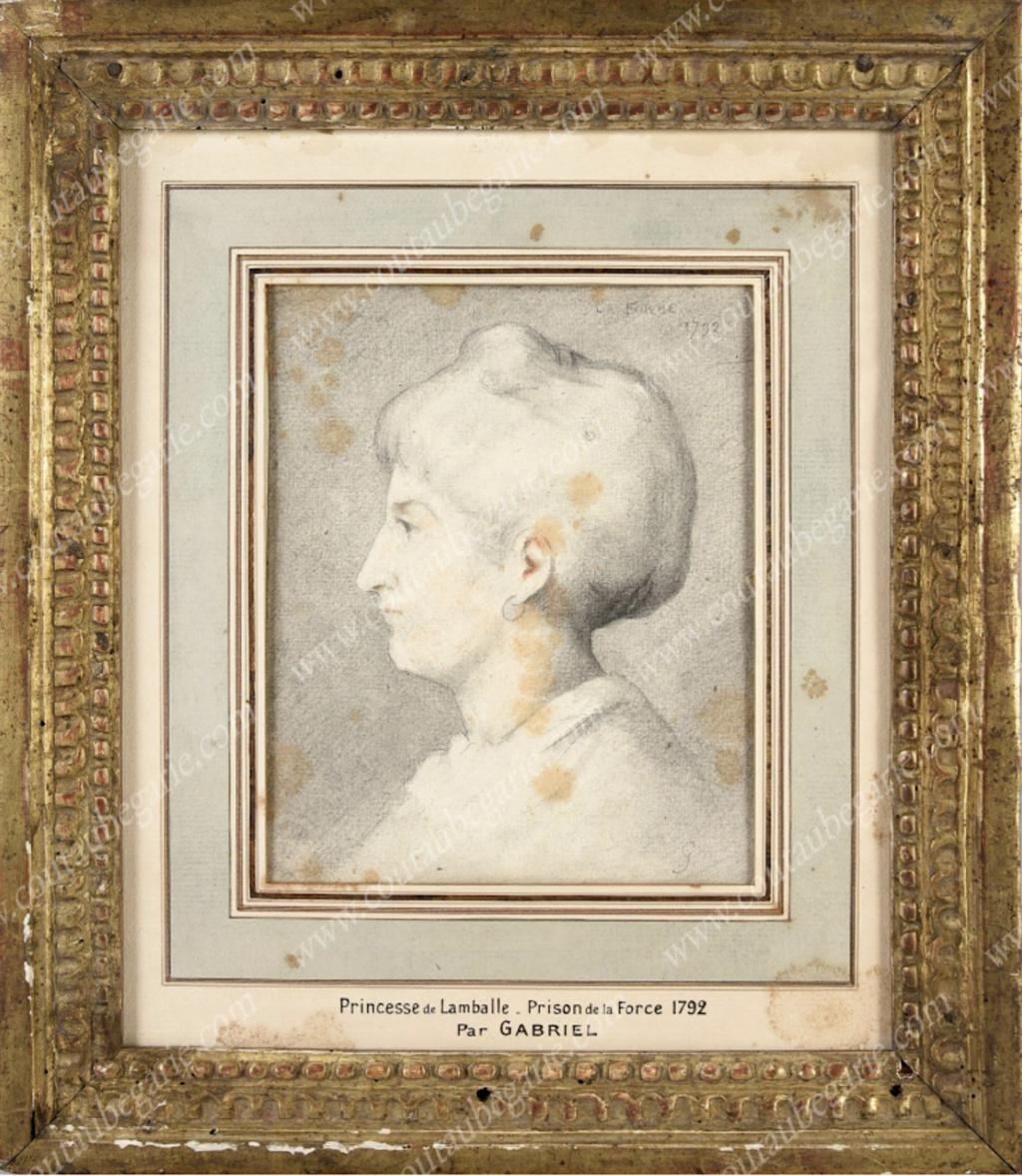 Portrait(s) de la princesse de Lamballe à la prison de la Force, par Gabriel Capt2234