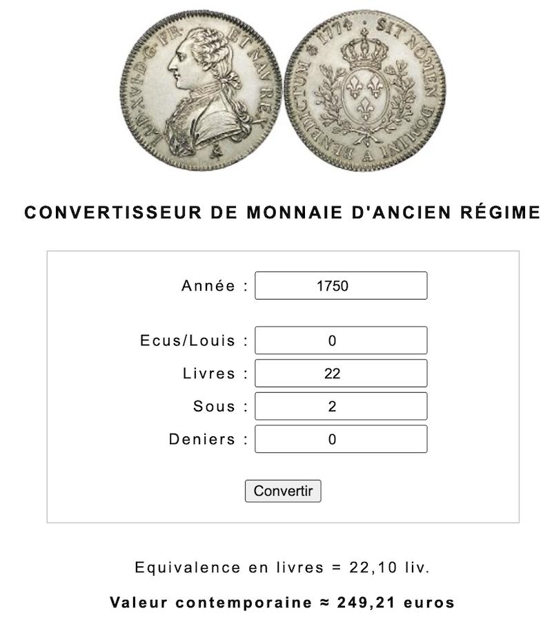 Prix, salaires et coût de la vie au XVIIIe siècle : convertisseur de monnaies d'Ancien Régime - Page 2 Capt2260