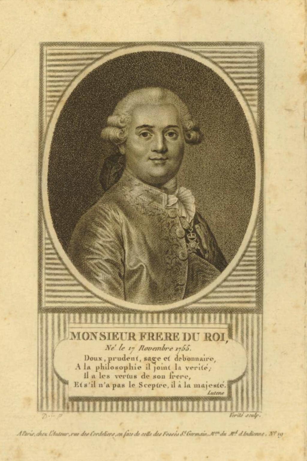Louis-Stanislas, comte de Provence, et futur roi Louis XVIII - Page 9 Capt2338