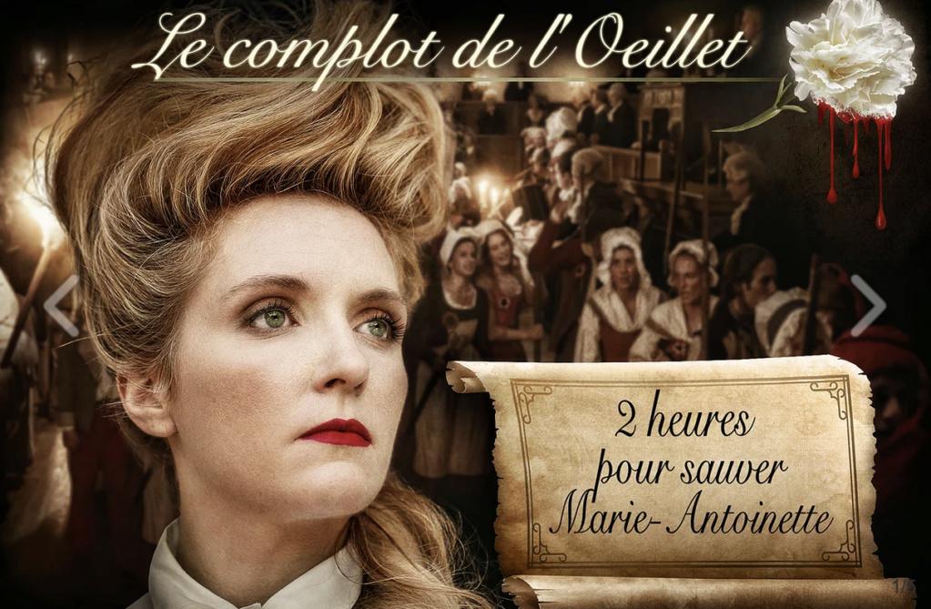 """Escape Game """" Le complot de l'oeillet """" - Jeu pour sauver la reine dans les rues de Paris Capt2497"""
