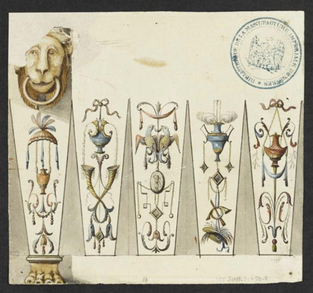 """Seaux à glace """" à trépieds """" en porcelaine de Sèvres  Capt2718"""