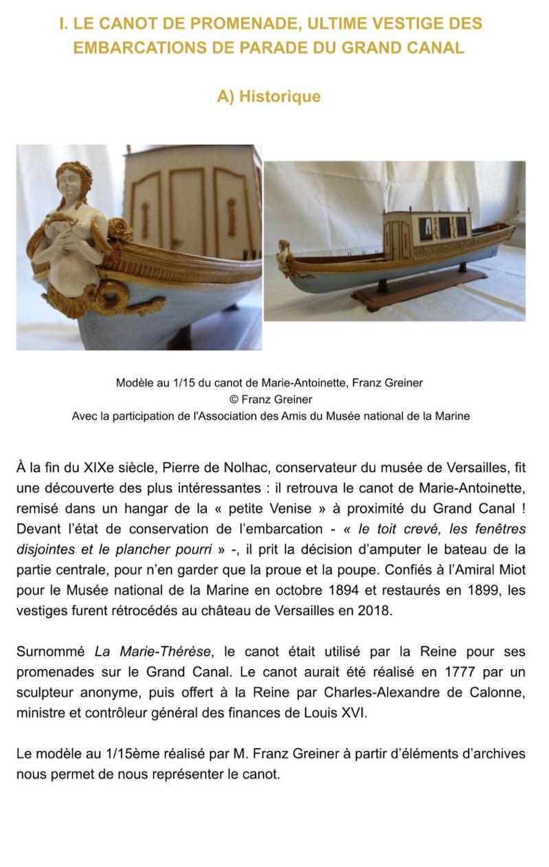 Le canot de promenade de Marie-Antoinette à Versailles Capt2818