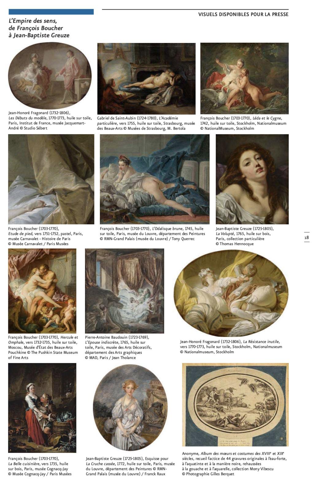 Exposition : L'Empire des sens, de François Boucher à Jean-Baptiste Greuze, au musée Cognacq-Jay Capt2879