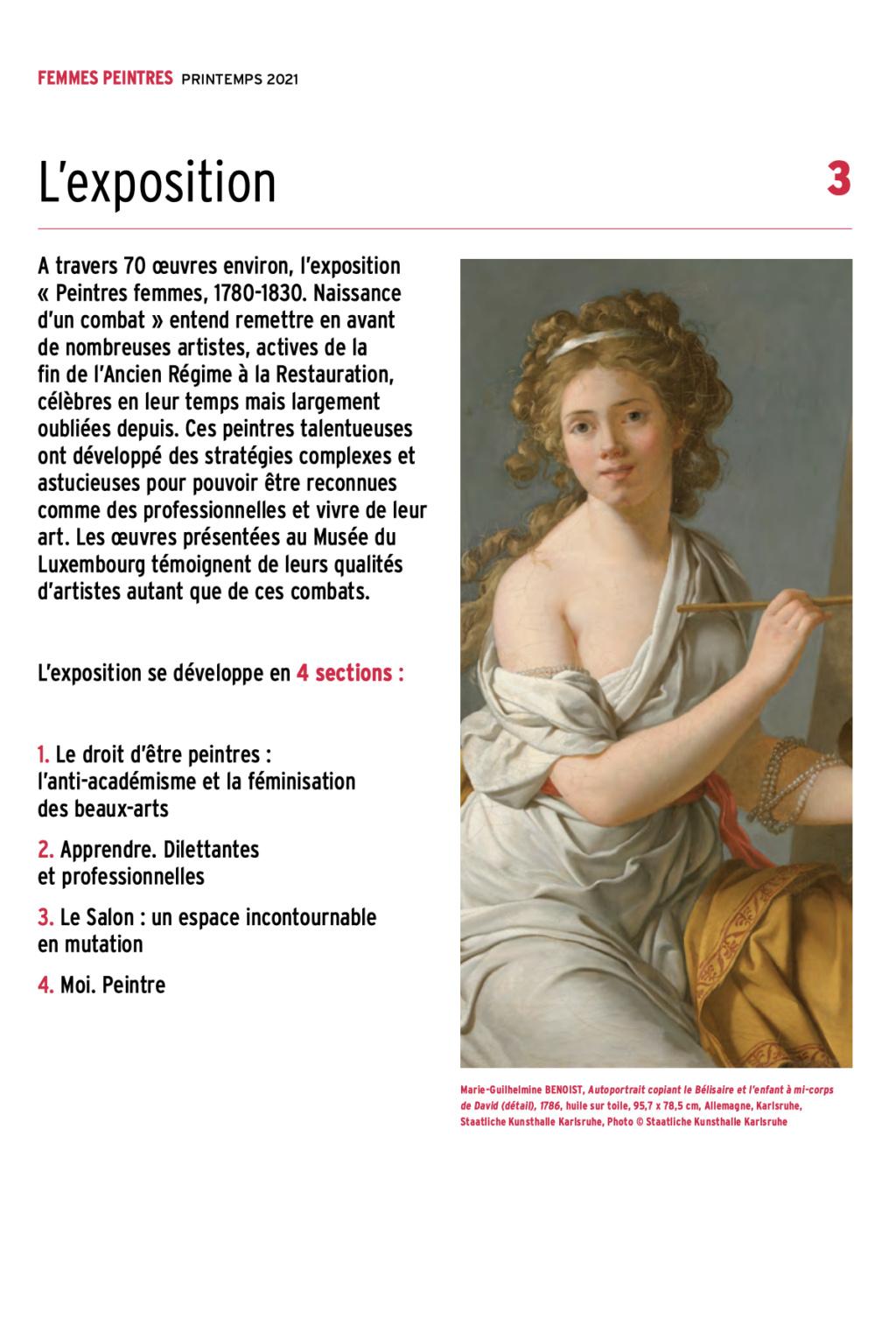 Exposition : Peintres femmes 1780-1830, naissance d'un combat. Au musée du Luxembourg Paris Capt2920