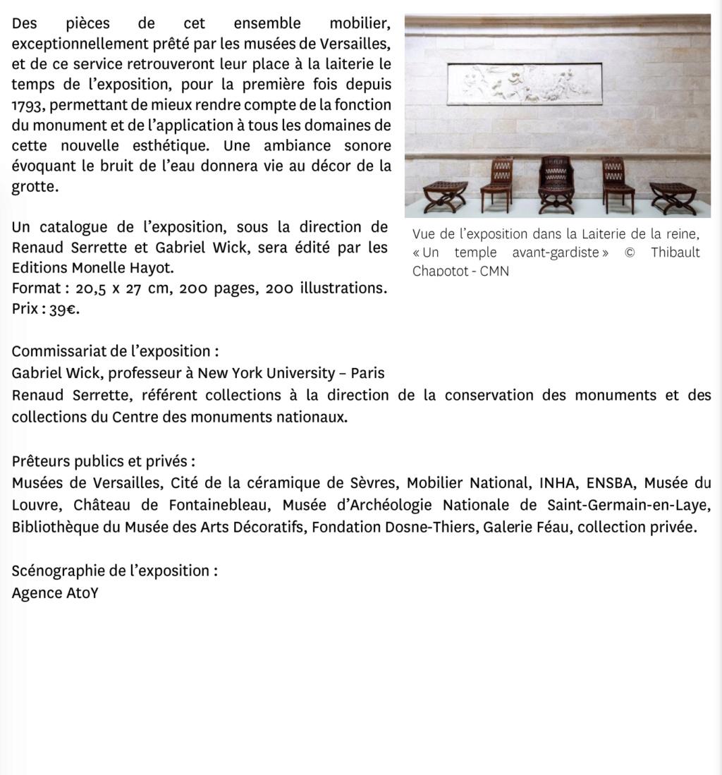 """Exposition """" Vivre à l'antique, de Marie-Antoinette à Napoléon Ier """" - Château de Rambouillet - Page 2 Capt2963"""