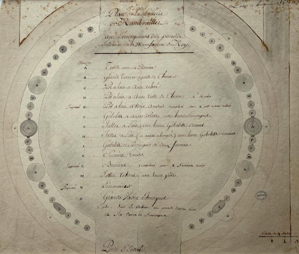 Service de Marie-Antoinette pour Rambouillet en porcelaine de Sèvres Capt2977