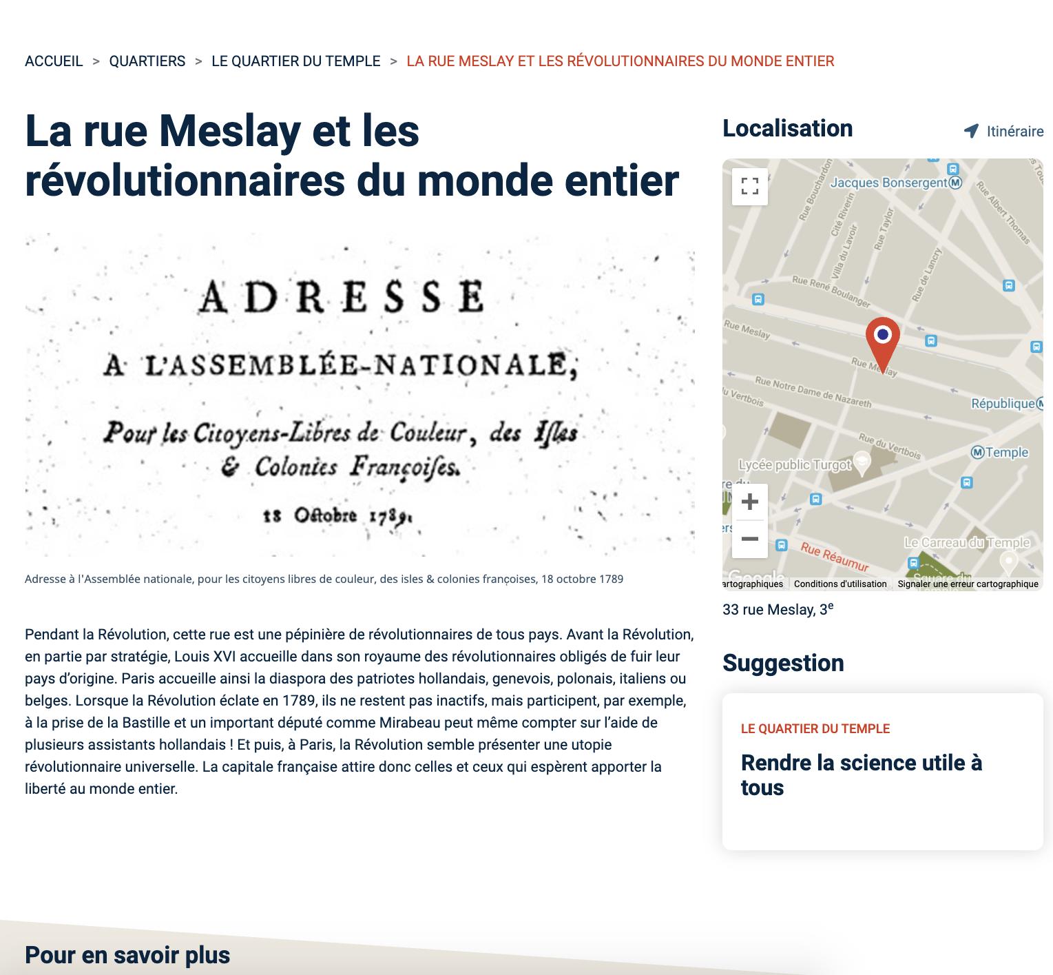 Parcours Révolution : le Paris de la Révolution française Capt2988
