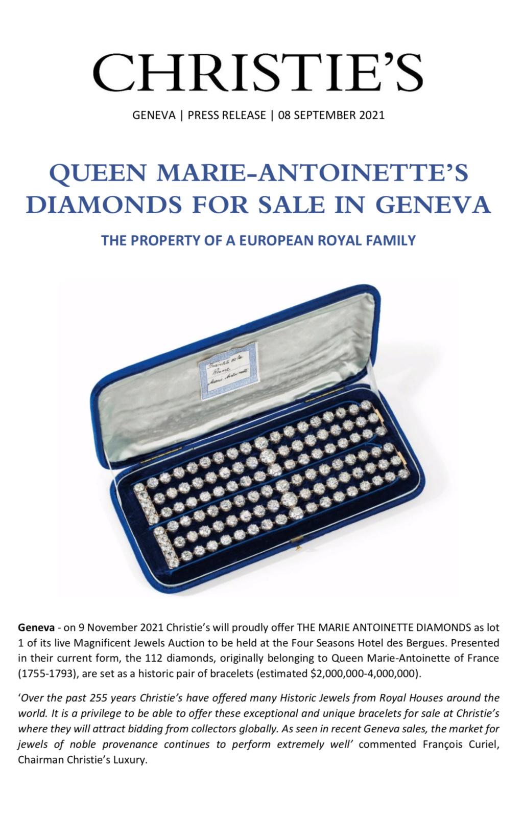Bijoux de Marie-Antoinette : inventaire des parures, diamants et perles envoyés à Bruxelles durant la Révolution Capt3011