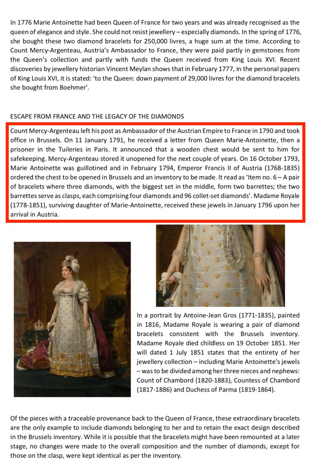 Bijoux de Marie-Antoinette : inventaire des parures, diamants et perles envoyés à Bruxelles durant la Révolution Capt3013