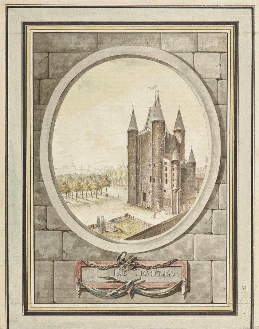 La famille royale à la prison du Temple : plans et aménagements - Page 7 Captu109