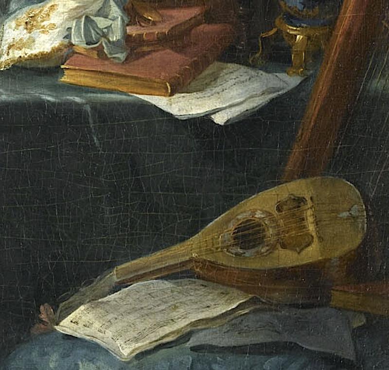 Une guitare-luth (et non pas une mandoline) ayant appartenu à Marie-Antoinette ?  Captu129
