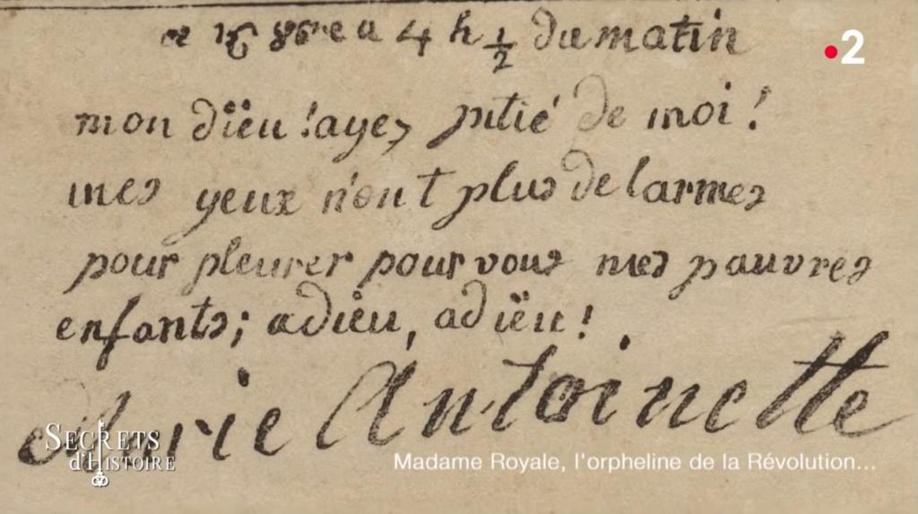 billet - Le billet du 16 octobre 1793 attribué à la reine  Captu173