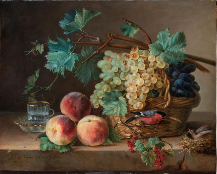 La peinture des fleurs : Sophie de Fuligny-Damas, marquise de Grollier Captu237