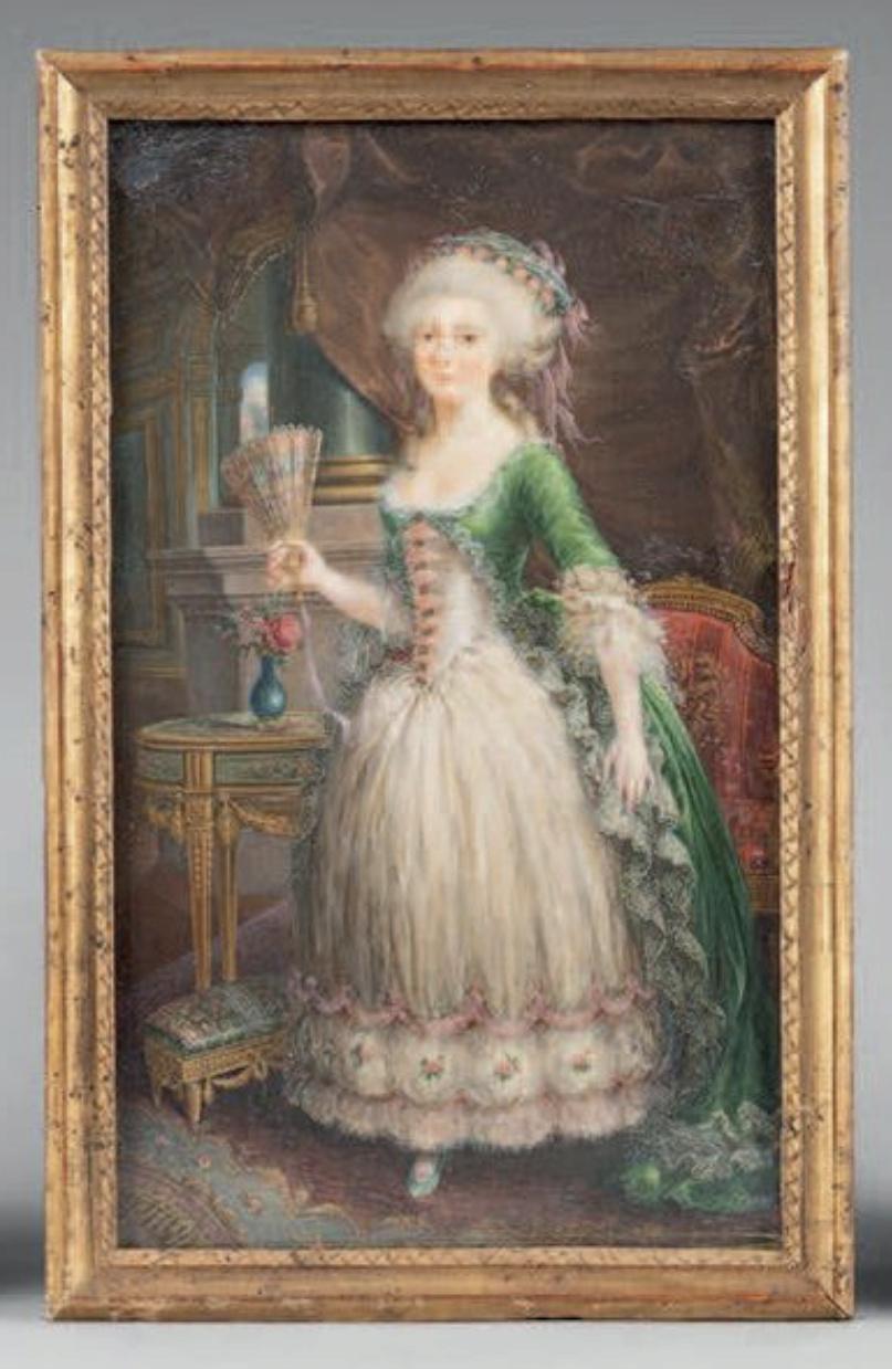 La signature et les armes (blason) de la princesse de Lamballe Captu376