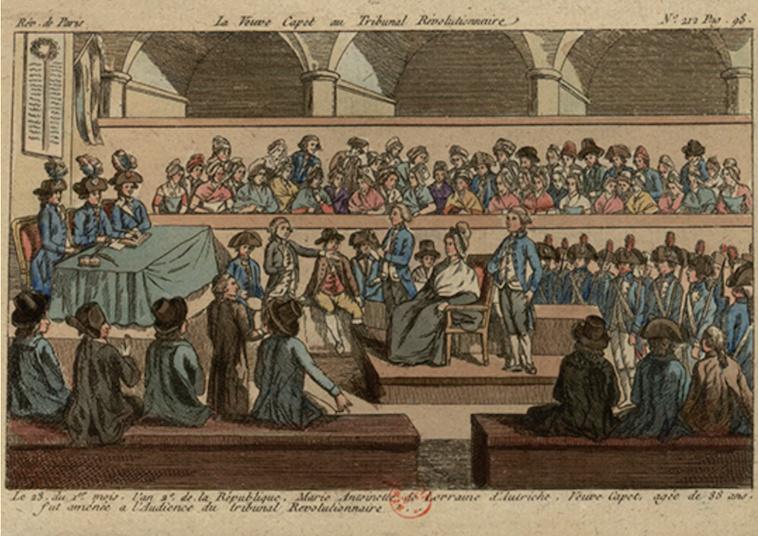 Le palais de Justice de L'île de la Cité, Paris, et la salle du Tribunal révolutionnaire Captu400