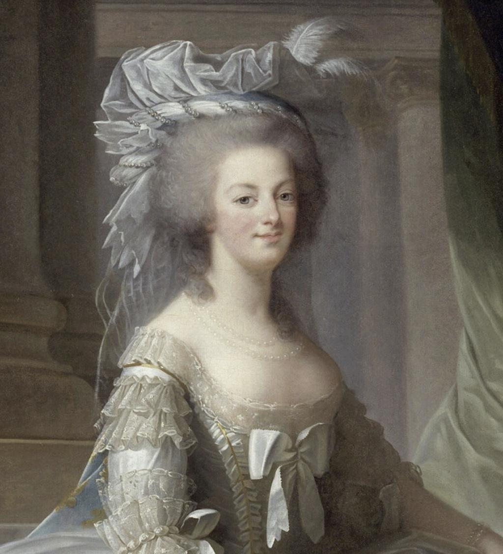 Marie-Antoinette par Vigée Le Brun (1783), d'après le portrait de 1778 Captu402
