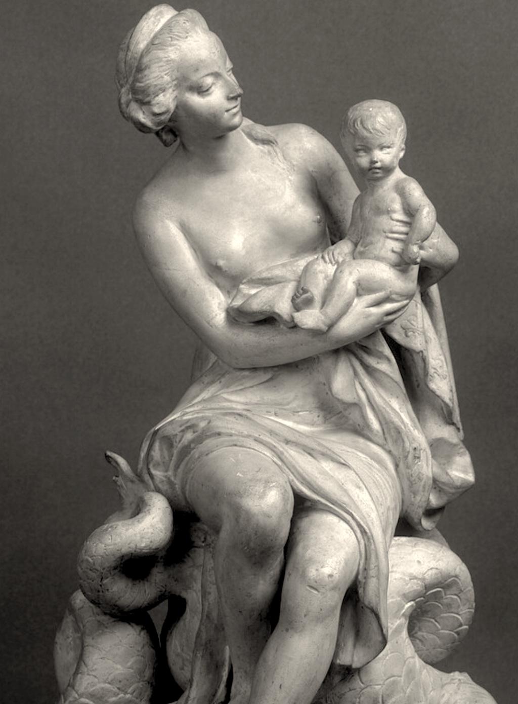 Marie-Antoinette, allégorie de la naissance du dauphin, par et d'après Augustin Pajou Captu403