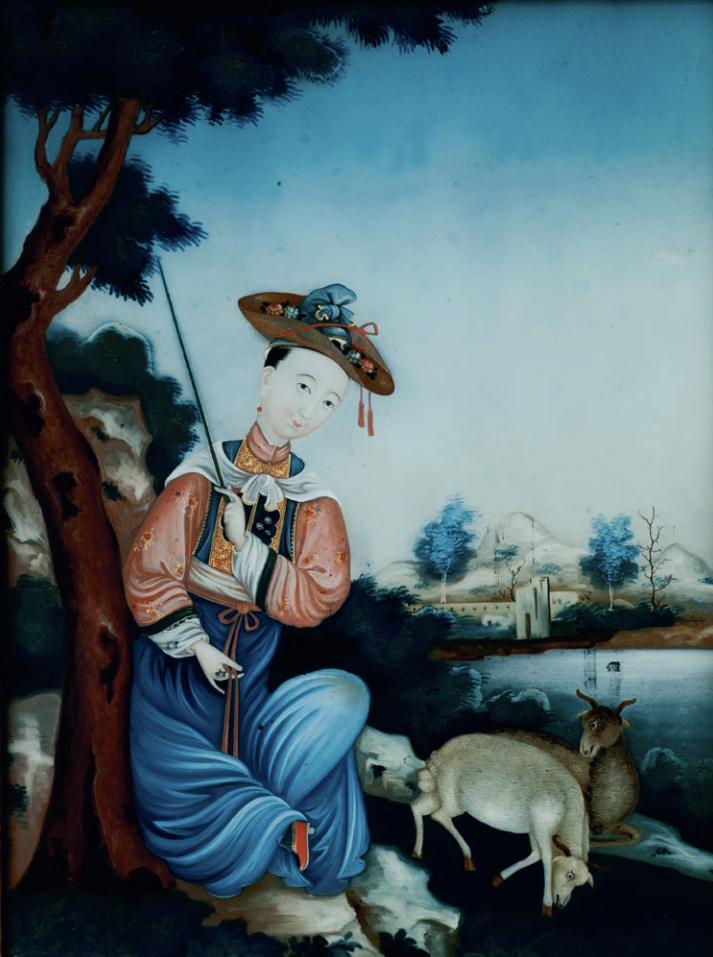 La peinture sous / sur verre chinoise au XVIIIe siècle Captu404