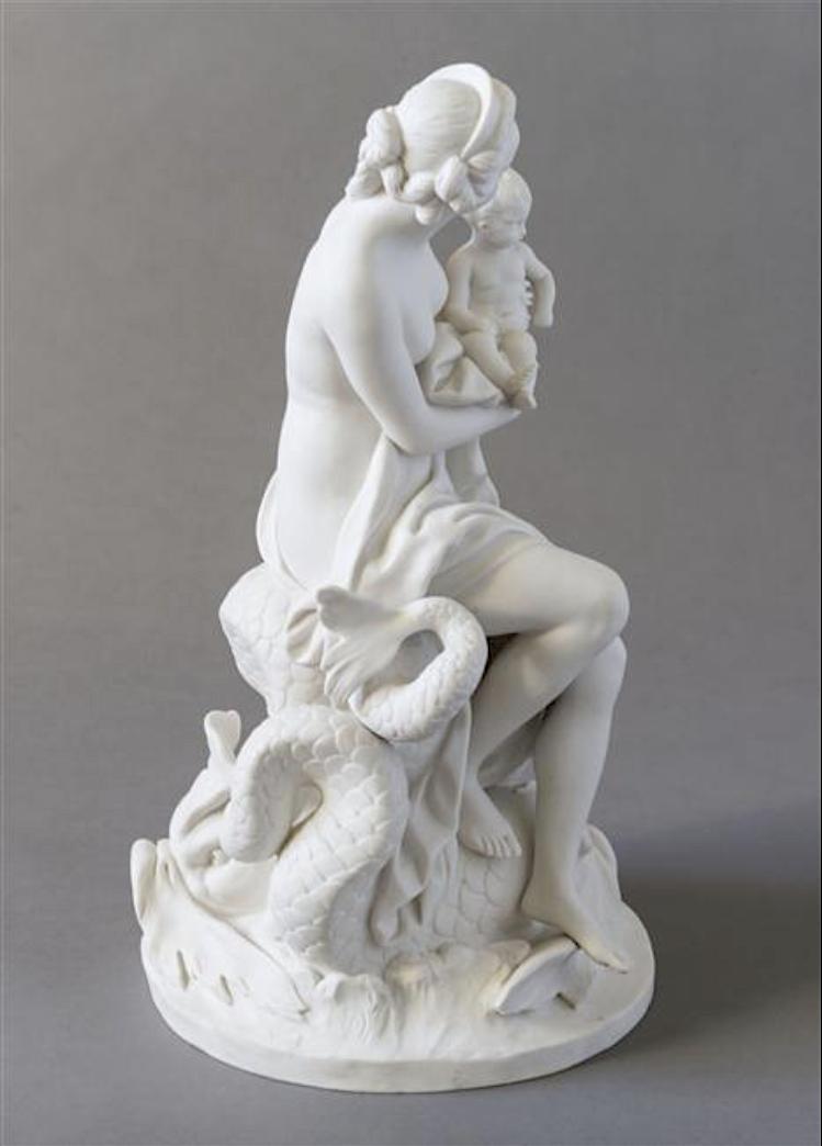 Marie-Antoinette, allégorie de la naissance du dauphin, par et d'après Augustin Pajou Captu405