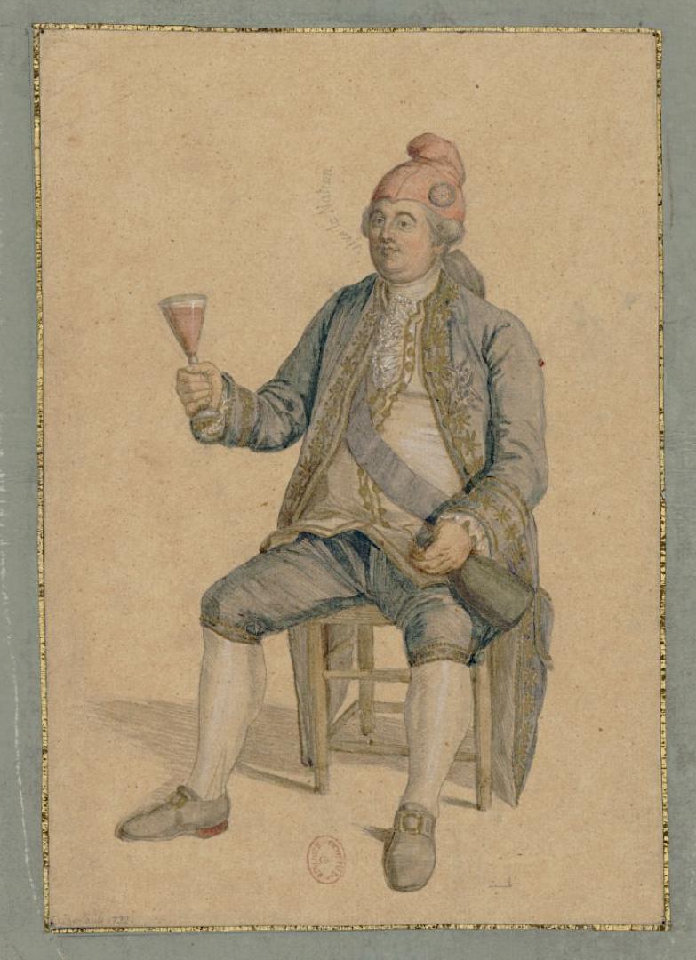 Louis XVI coiffé du bonnet phrygien Captu448