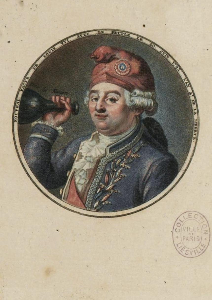 Louis XVI coiffé du bonnet phrygien Captu449