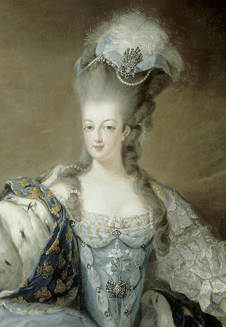 Gravures : Portraits de Marie Antoinette par Jean-François Janinet, d'après Dagoty Captu478