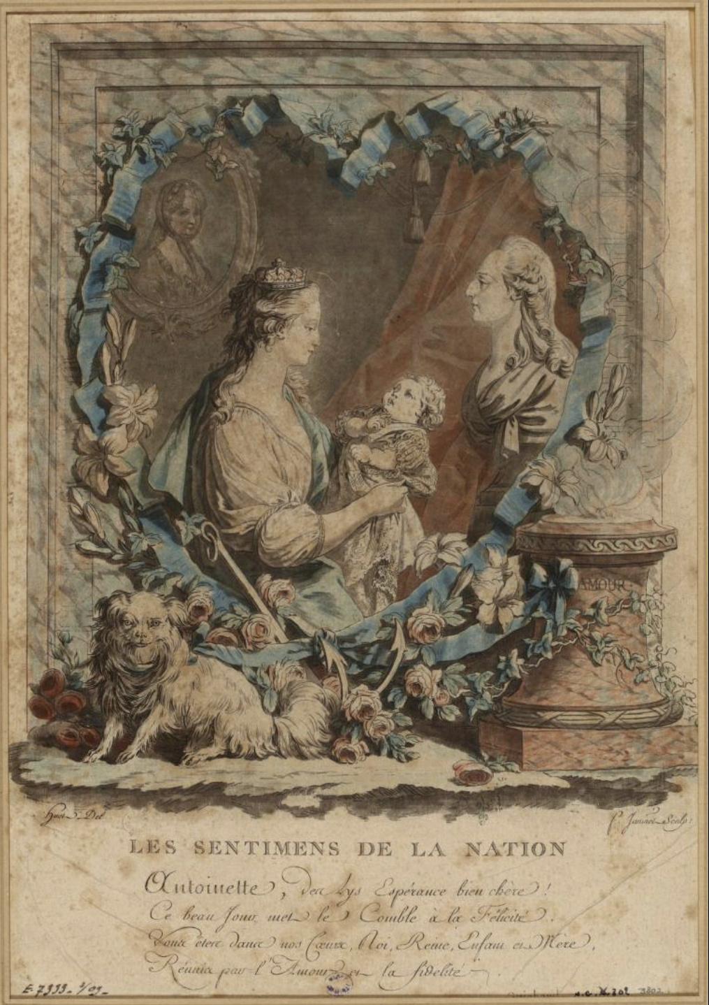 Gravures : Portraits de Marie Antoinette par Jean-François Janinet, d'après Dagoty Captu493