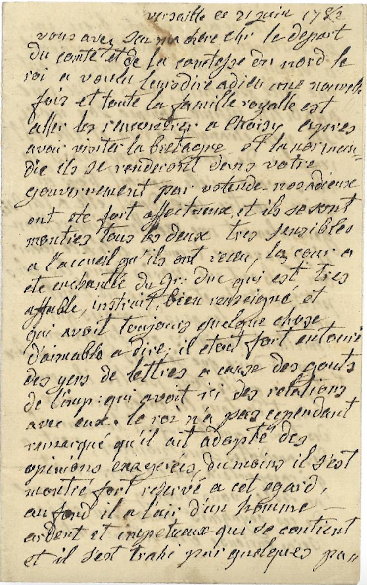 Lettre de Marie-Antoinette à sa soeur Marie-Christine Captu498
