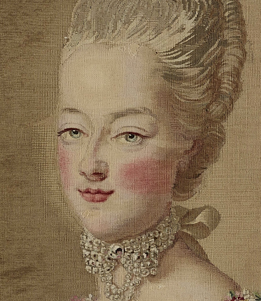 Tapisseries des Gobelins, atelier Cozette : collection de portraits, dont ceux de Marie-Antoinette Captu542