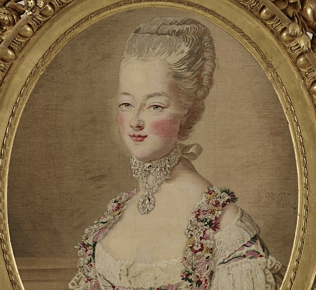 Tapisseries des Gobelins, atelier Cozette : collection de portraits, dont ceux de Marie-Antoinette Captu543
