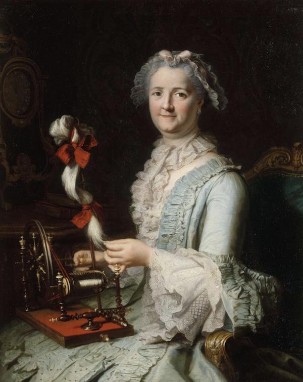 Un rouet ayant appartenu à Marie-Antoinette ? Les rouets au XVIIIe siècle Captu545