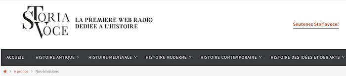 Storia Voce : la première radio sur internet dédiée à l'Histoire Captu574