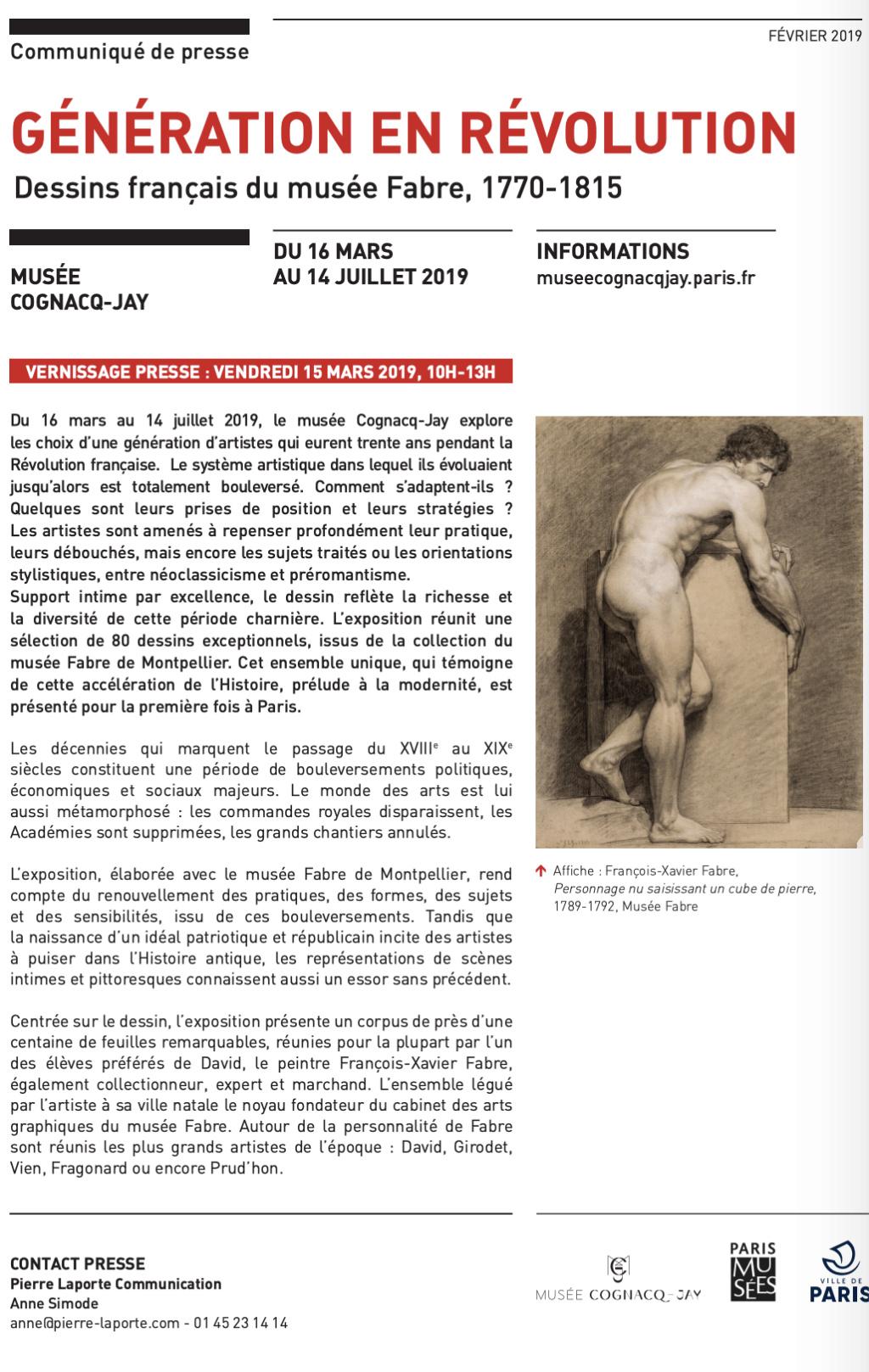 Expo Cognacq Jay : Génération en Révolution - Dessins français du musée Fabre Captu596