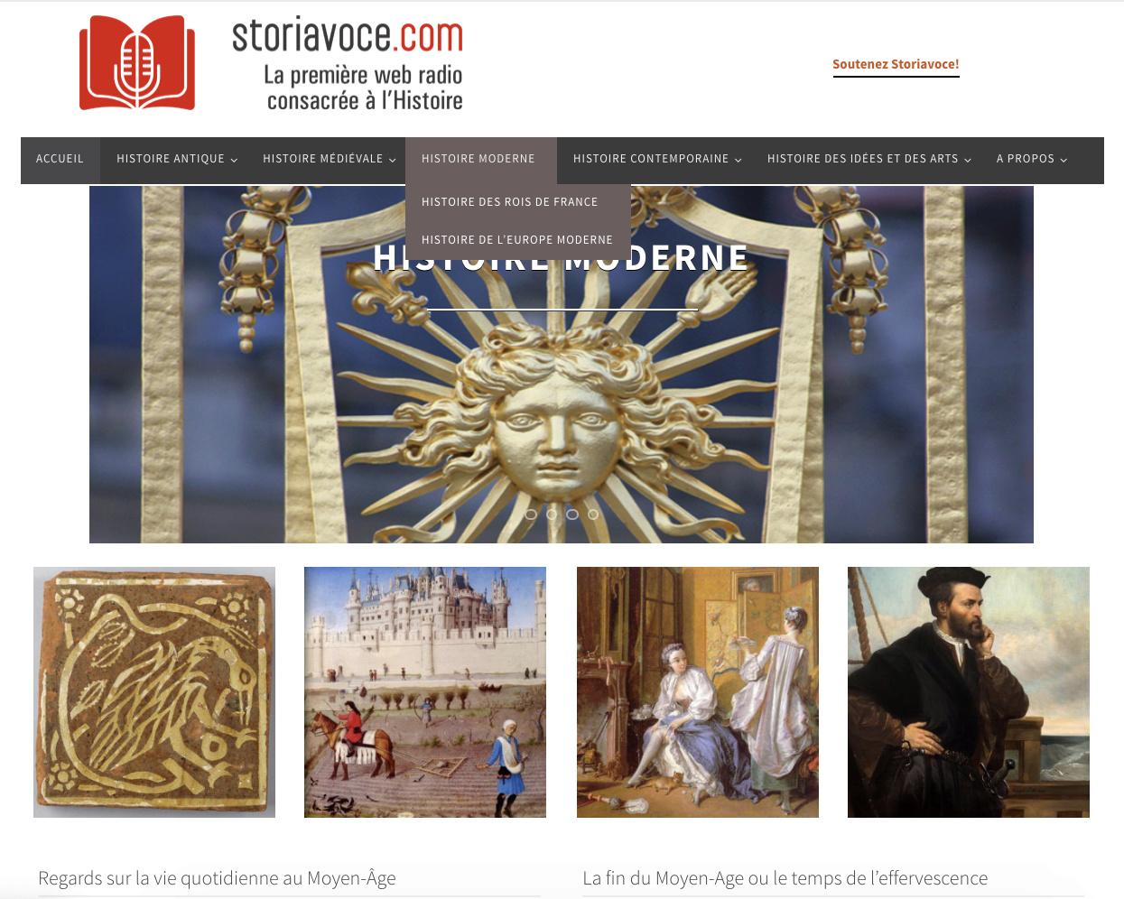 Storia Voce : la première radio sur internet dédiée à l'Histoire Captu628