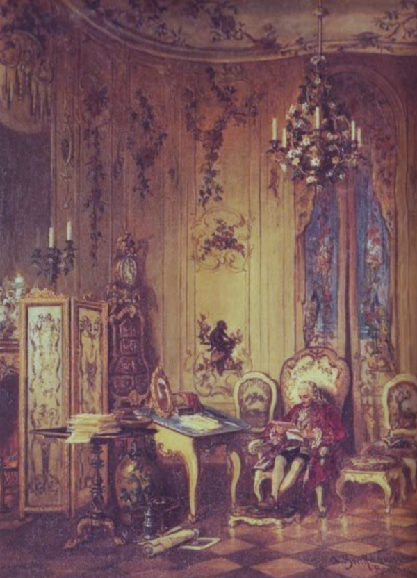 Le palais et le parc de Sans-souci, ou Sanssouci, à Potsdam  Captu647