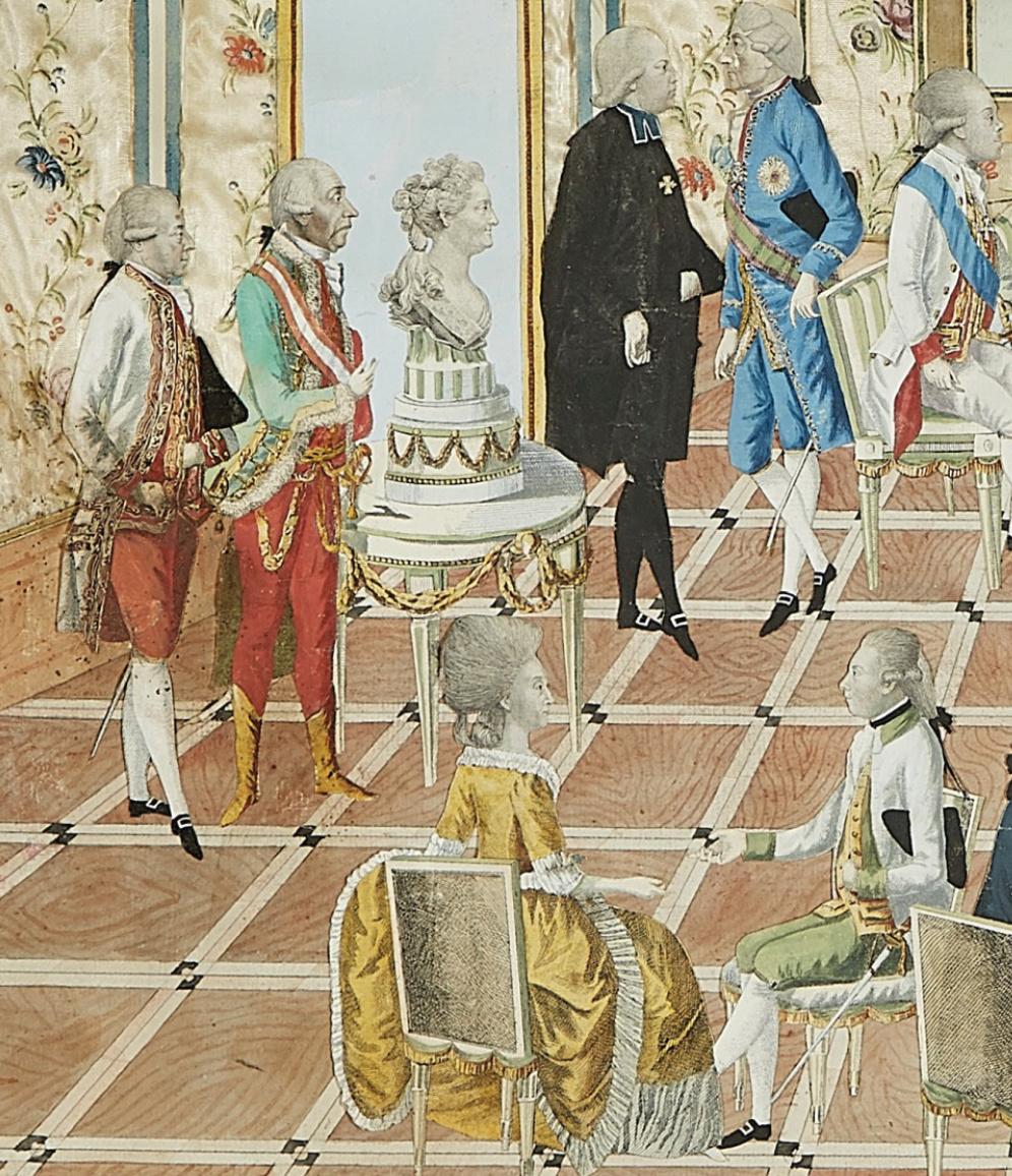Le voyage en Europe du comte et de la comtesse du Nord : le tsarévitch Paul et son épouse. - Page 2 Captu671