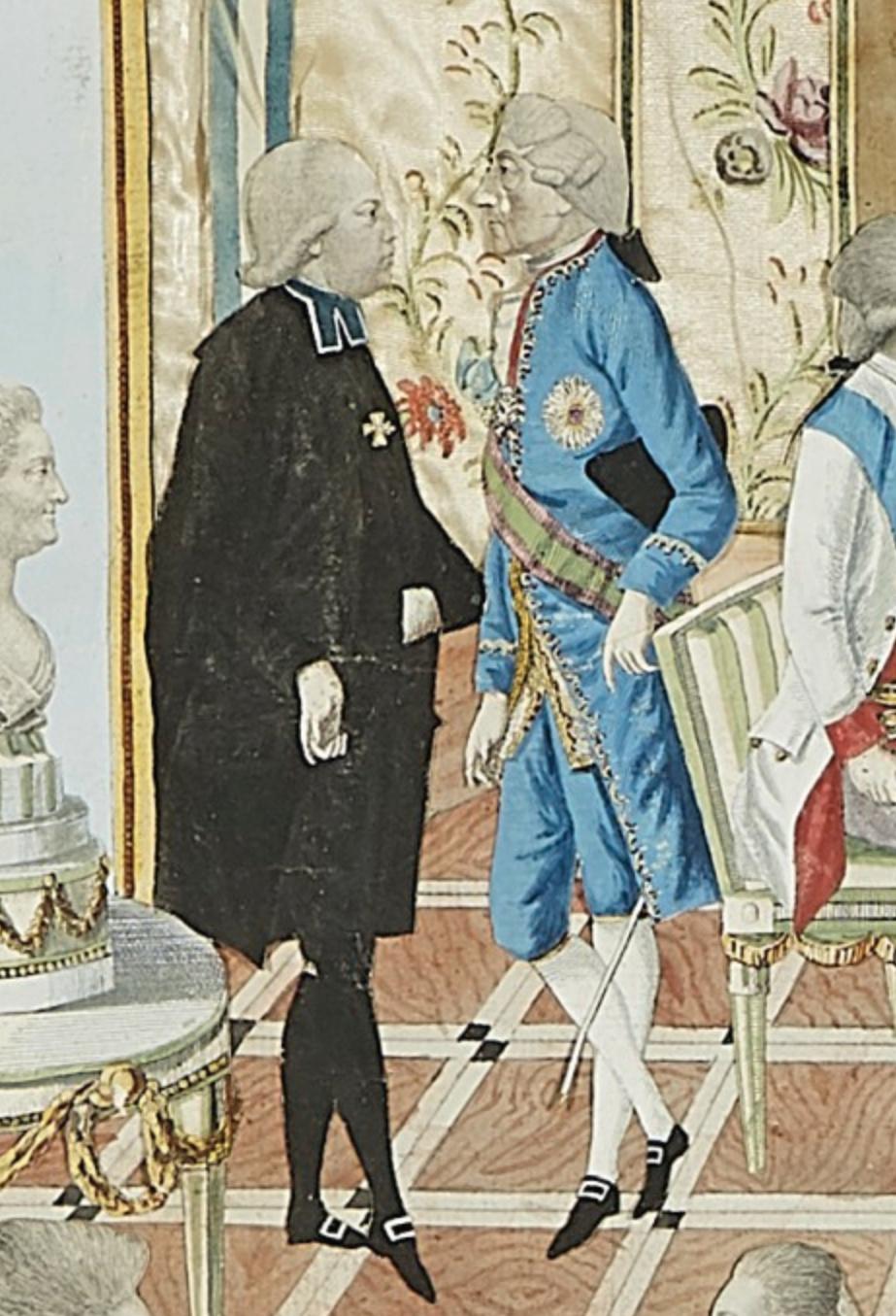 Le voyage en Europe du comte et de la comtesse du Nord : le tsarévitch Paul et son épouse. - Page 2 Captu672