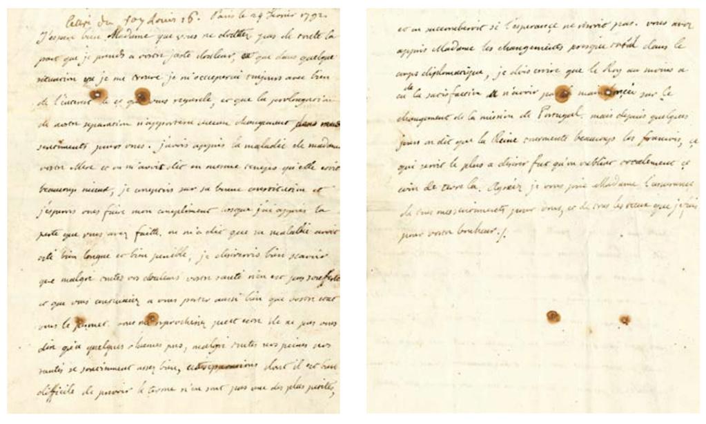 Lettres autographes et écrits de Louis XVI Captu747